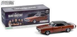 Dodge  - Charger 1970 dark brunt orange - 1:18 - GreenLight - 19077 - gl19077 | Toms Modelautos