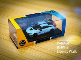 Liberty Walk BMW - BMW i8 1994 peppermint green - 1:64 - Para64 - 55141L - pa55141L | Toms Modelautos