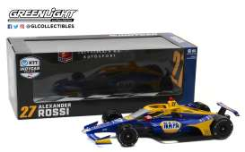 Honda  - 2020 blue/yellow - 1:18 - GreenLight - 11080 - gl11080 | Toms Modelautos