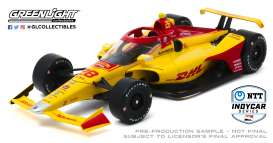Honda  - 2020 yellow/red - 1:18 - GreenLight - 11081 - gl11081 | Toms Modelautos
