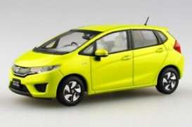 Honda  - Fit 2015 yellow - 1:43 - Ebbro - 45141 - ebb45141 | Toms Modelautos
