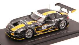 Mercedes Benz  - 2015 black/yellow - 1:43 - Ebbro - 45337 - ebb45337 | Toms Modelautos