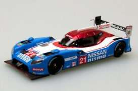Nissan  - 2015 blue/red/white - 1:43 - Ebbro - 45254 - ebb45254 | Toms Modelautos