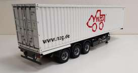 Trailer  - *NZG* + 40ft Container grey/white - 1:18 - NZG - 978 - NZG978 | Toms Modelautos