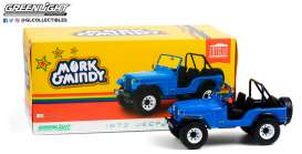 Jeep  - CJ-5 1972 blue - 1:18 - GreenLight - 19079 - gl19079 | Toms Modelautos