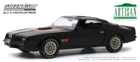Pontiac  - Firebird 1977 black - 1:18 - GreenLight - 19080 - gl19080 | Toms Modelautos