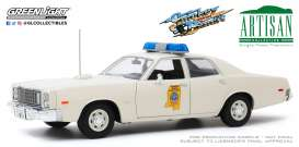 Plymouth  - Fury 1975 white - 1:18 - GreenLight - 19083 - gl19083 | Toms Modelautos