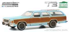 Ford  - LTD Country Squire 1980 blue - 1:18 - GreenLight - 19085 - gl19085 | Toms Modelautos
