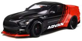 Ford LB Works - Mustang black/red - 1:18 - GT Spirit - GTS035KJ-B - GTS035bkr | Toms Modelautos