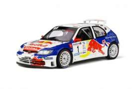 Peugeot  - 306 2017 white/blue/red - 1:18 - OttOmobile Miniatures - 829 - otto829 | Toms Modelautos