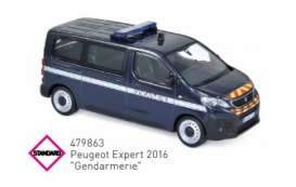 Peugeot  - 2016 blue/white - 1:43 - Norev - 479863 - nor479863 | Toms Modelautos