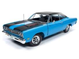 Plymouth  - Road Runner 1969 blue - 1:18 - Auto World - AMM1184 - AMM1184 | Toms Modelautos