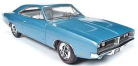 Dodge  - Charger 1969 light blue - 1:18 - Auto World - AMM1200 - AMM1200 | Toms Modelautos