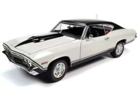 Chevrolet  - Chevelle 1968 white - 1:18 - Auto World - AMM1201 - AMM1201 | Toms Modelautos
