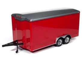 Trailer  - red/silver - 1:18 - Auto World - AMM1218 - AMM1218 | Toms Modelautos