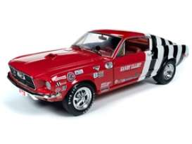 Ford  - Mustang 1968 red/white - 1:18 - Auto World - 259 - AW259 | Toms Modelautos