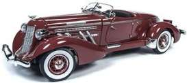 Auburn  - Speedster 1935 burgandy - 1:18 - Auto World - 262 - AW262 | Toms Modelautos