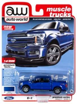 Ford  - F150 blue - 1:64 - Auto World - SP029A - AWSP029A | Toms Modelautos
