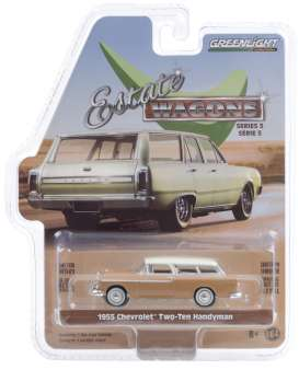 Chevrolet  - Two-Ten Handyman 1955 tan/ivory - 1:64 - GreenLight - 29990A - gl29990A | Toms Modelautos