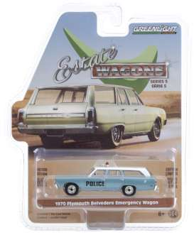 Plymouth  - Belvedere 1970 blue - 1:64 - GreenLight - 29990C - gl29990C | Toms Modelautos