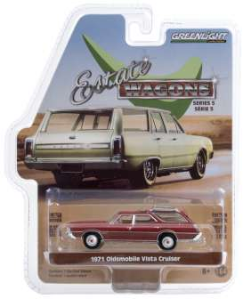 Oldsmobile  - Vista Cruiser 1971 red - 1:64 - GreenLight - 29990D - gl29990D | Toms Modelautos