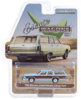 Mercury  - Grand 1983 blue - 1:64 - GreenLight - 29990F - gl29990F | Toms Modelautos