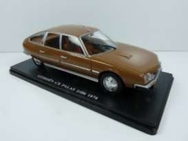 Citroen  - CX Pallas 1976 brown - 1:24 - Magazine Models - 24CiCx - mag24CiCx | Toms Modelautos