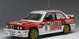 BMW  - M3 E30 1988 red/white - 1:18 - IXO Models - rmc040B - ixrmc040B | Toms Modelautos