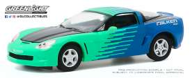 Corvette  - C6 2013 green-blue - 1:64 - GreenLight - 30176 - gl30176 | Toms Modelautos