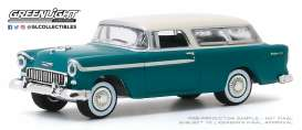 Chevrolet  - Nomad 1955 blue - 1:64 - GreenLight - 37200A - gl37200A | Toms Modelautos