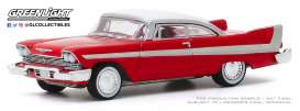 Plymouth  - Fury 1958 red - 1:64 - GreenLight - 37200B - gl37200B | Toms Modelautos
