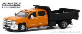Chevrolet  - Silverado 2016 orange/black - 1:64 - GreenLight - 46040B - gl46040B | Toms Modelautos