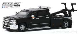 Chevrolet  - Silverado 2018 black - 1:64 - GreenLight - 46040D - gl46040D | Toms Modelautos