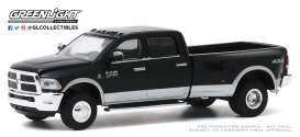 Ram  - 3500 2018 black - 1:64 - GreenLight - 46040E - gl46040E | Toms Modelautos