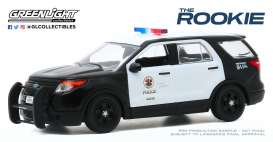 Ford  - 2013 black/white - 1:43 - GreenLight - 86587 - gl86587 | Toms Modelautos