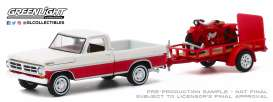 Ford  - F-100 1972 red/white - 1:64 - GreenLight - 32200A - gl32200A | Toms Modelautos
