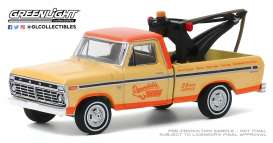 Ford  - F100 1973 cream/orange - 1:64 - GreenLight - 35160B - gl35160B | Toms Modelautos