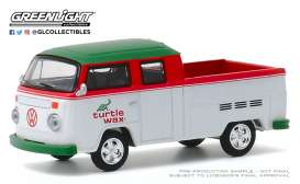 Volkswagen  - Type 2 1979 white/red/green - 1:64 - GreenLight - 35160C - gl35160C | Toms Modelautos
