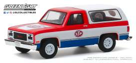 GMC  - Jimmy 1990 red/white/blue - 1:64 - GreenLight - 35160D - gl35160D | Toms Modelautos