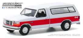 Ford  - F-150 1994 white/red - 1:64 - GreenLight - 35160E - gl35160E | Toms Modelautos