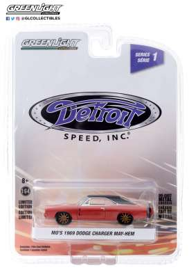 Dodge  - Charger 1969 red - 1:64 - GreenLight - 39040C - gl39040C | Toms Modelautos