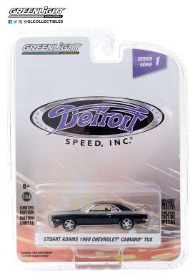 Chevrolet  - Camaro 1969 black - 1:64 - GreenLight - 39040D - gl39040D | Toms Modelautos