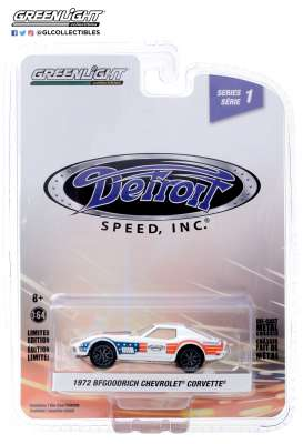 Chevrolet  - Corvette 1972 red/white/blue - 1:64 - GreenLight - 39040F - gl39040F | Toms Modelautos