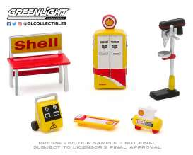 diorama Accessoires - yellow/white/red - 1:64 - GreenLight - 16060C - gl16060C | Toms Modelautos