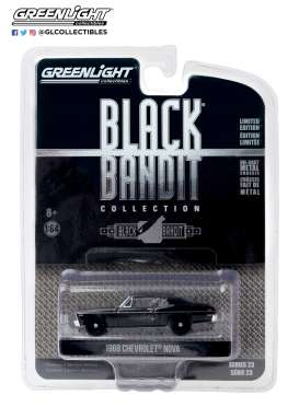 Chevrolet  - Nova 1968 black - 1:64 - GreenLight - 28030B - gl28030B | Toms Modelautos