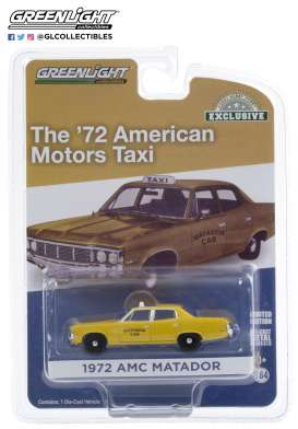 AMC  - Matador 1972 yellow - 1:64 - GreenLight - 30181 - gl30181 | Toms Modelautos