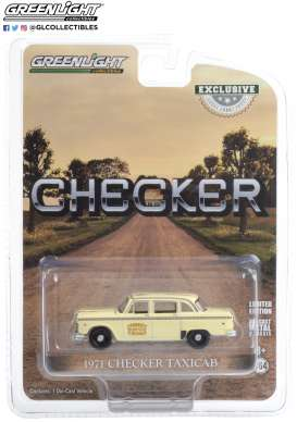 Checker  - Taxicab Tisdale Cab Co. 1971 white - 1:64 - GreenLight - 30182 - gl30182 | Toms Modelautos