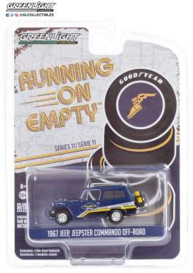 Jeep  - Jeepster 1967 blue - 1:64 - GreenLight - 41110B - gl41110B | Toms Modelautos