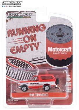 Ford  - Bronco 1994 red/white - 1:64 - GreenLight - 41110E - gl41110E | Toms Modelautos