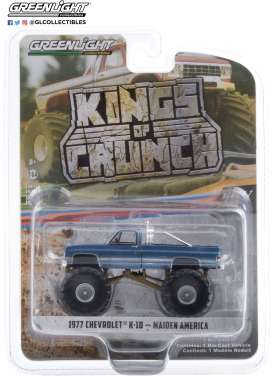 Chevrolet  - K-10 Monster Truck 1977 blue - 1:64 - GreenLight - 49070A - gl49070A | Toms Modelautos